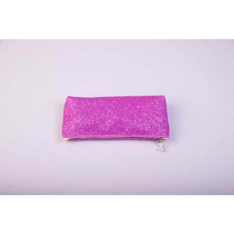 Пенал-косметичка, розовый