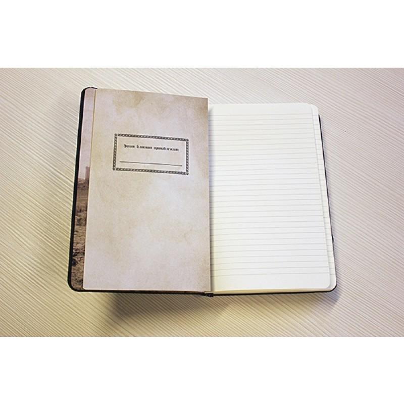 Игра престолов. Блокнот. (Дом Старков) (А5, 96 л., твердая обложка из эко-кожи, тиснение, блок в линейку, резинка, конверт для хранения) (фото 6)