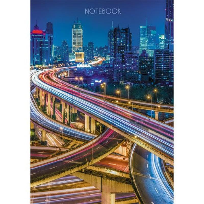 Книга для записей «Огни ночного города», А6, 80 листов